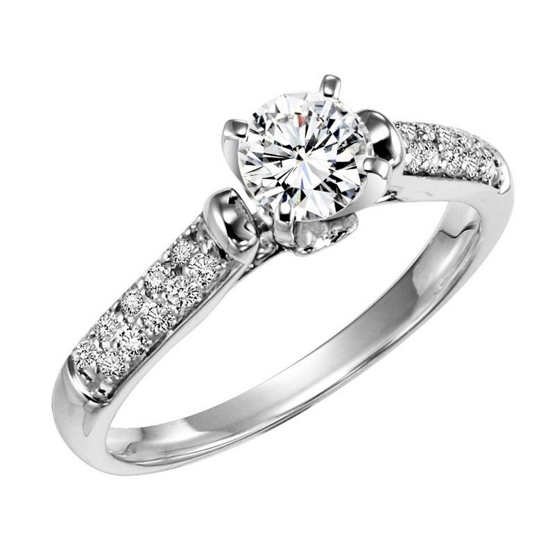 14k White Gold Diamond Engagement Ring 1 5 Ct V Jewelers