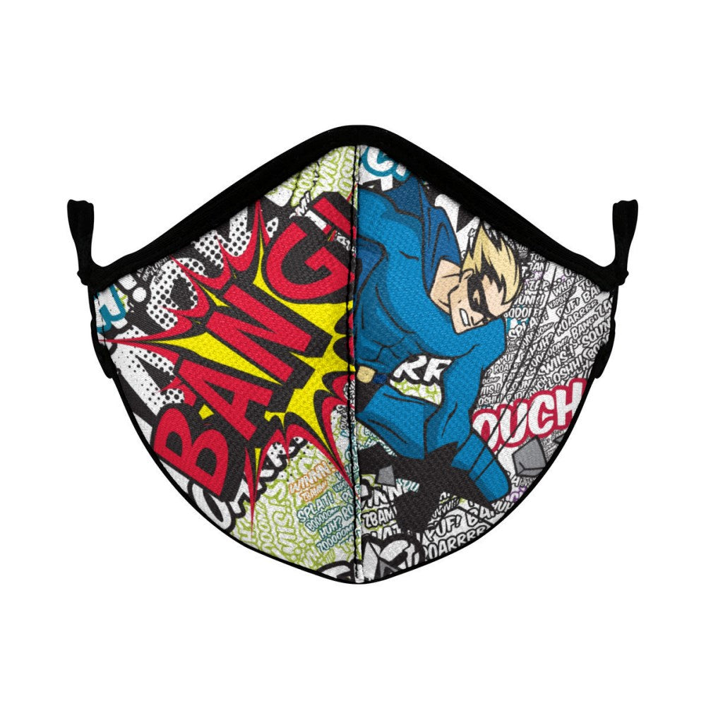 Q Face Mask Comic Book