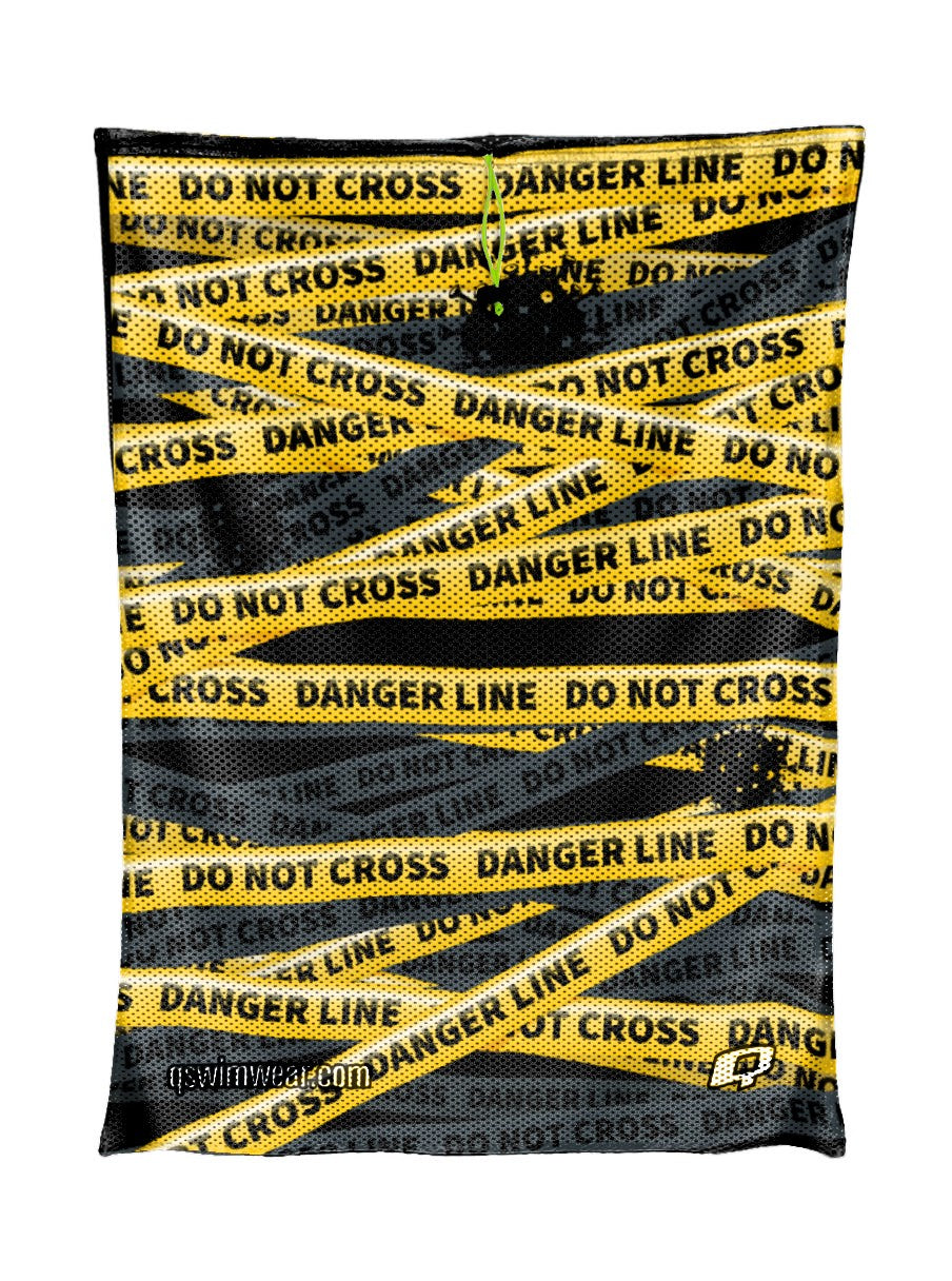 Be safe do not cross Mesh Bag