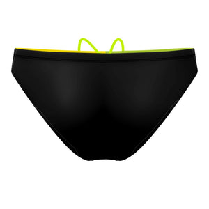 Tricolor Black, Green and Yellow Waterpolo Brief