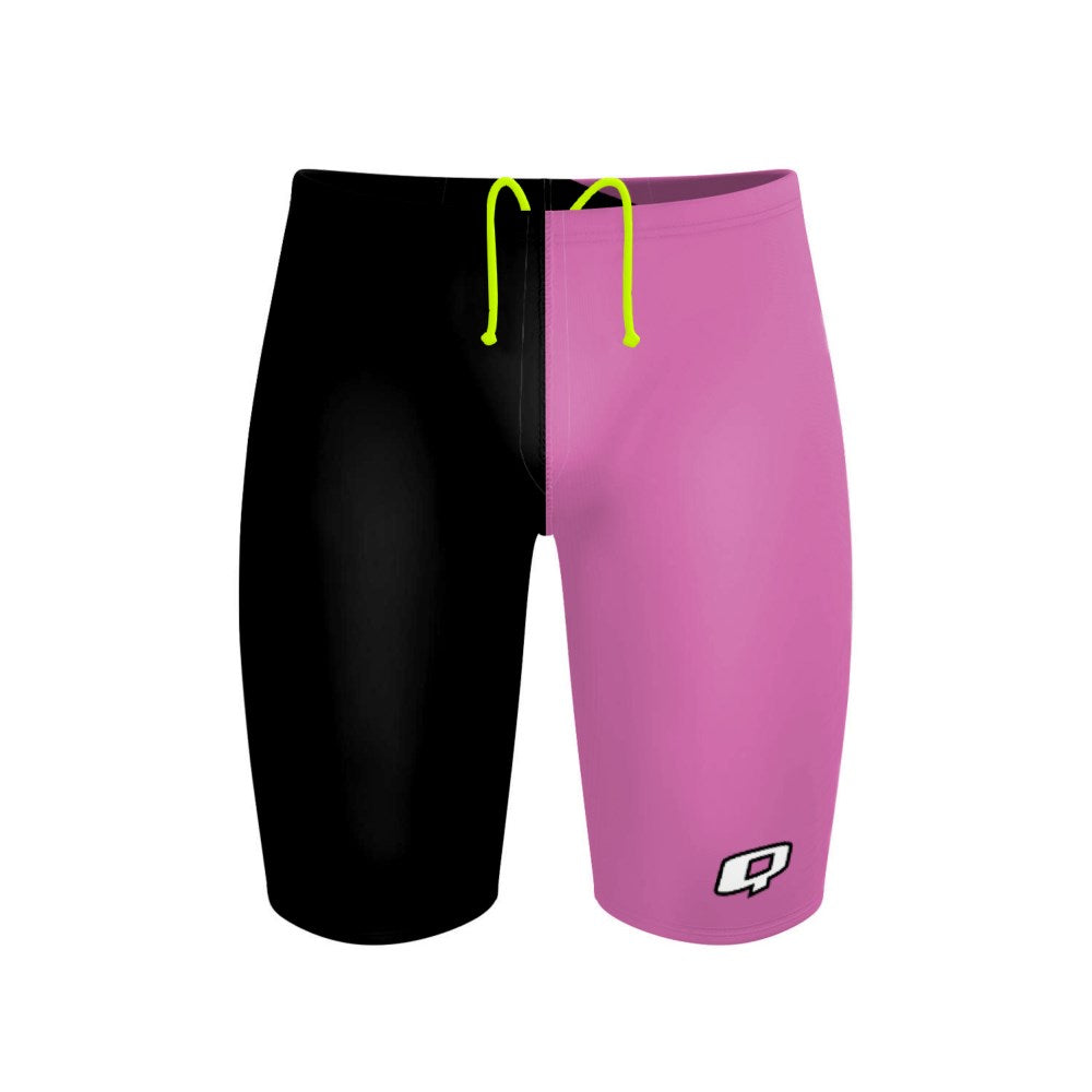 Tricolor Black and Hot Pink Jammer