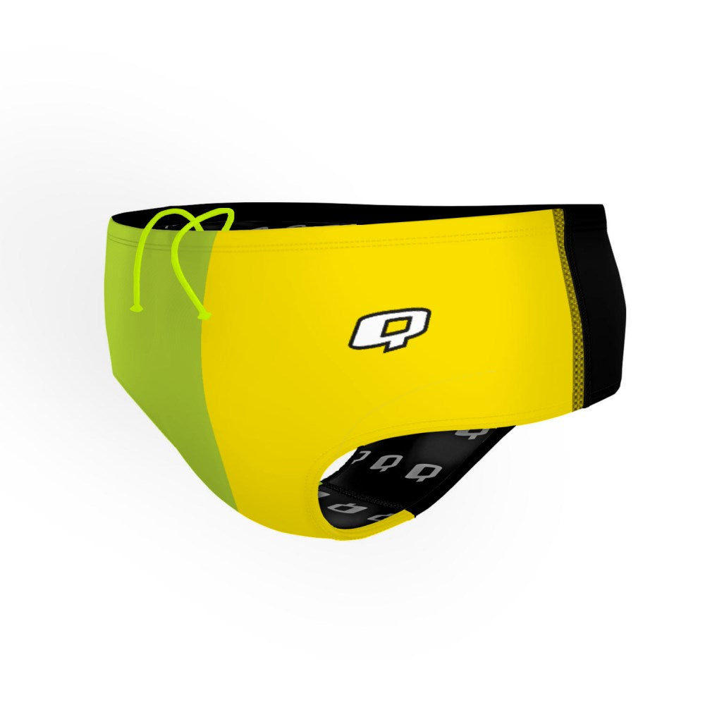 Tricolor Green and Yellow Classic Brief