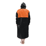 Black & Orange Solid Parka