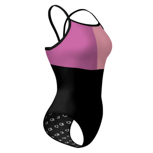 Tricolor Black, Hot Pink and Pink Sunback Tank