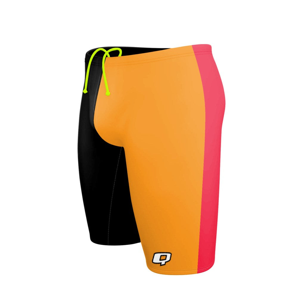Tricolor Black and Orange Jammer