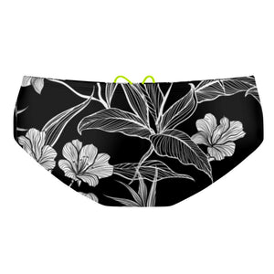 Black and White Flower Classic Brief