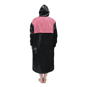 Black & Pink Solid Parka
