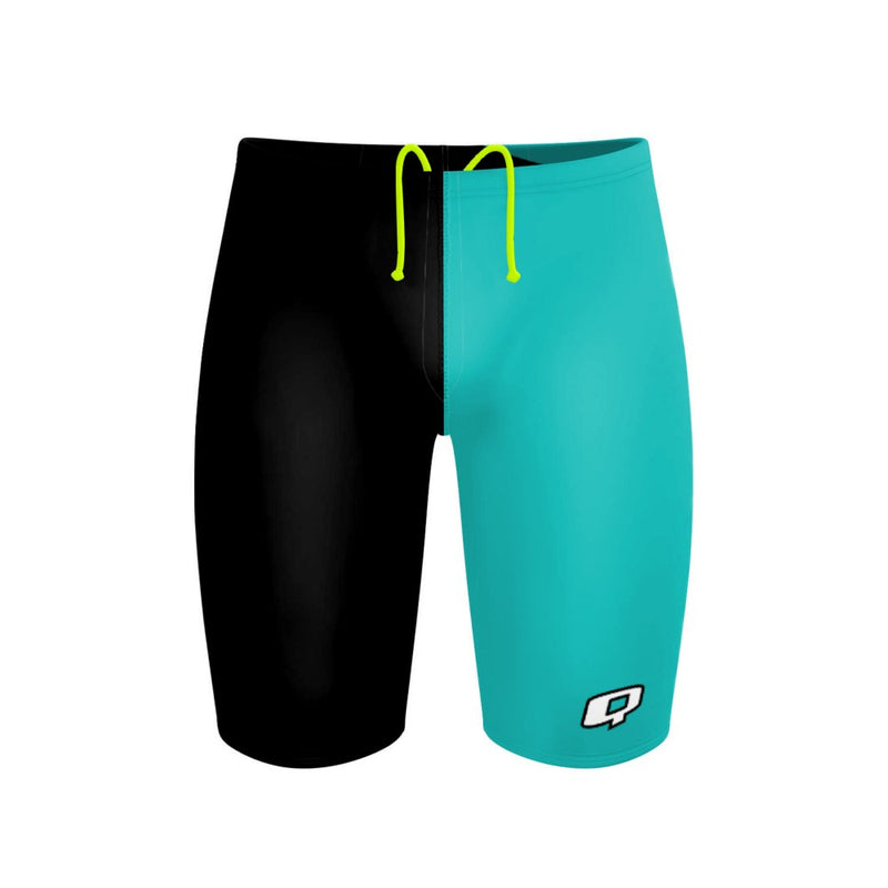 Tricolor Black and Turquoise Jammer