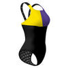 Tricolor Black, Yellow and Purple Classic Strap
