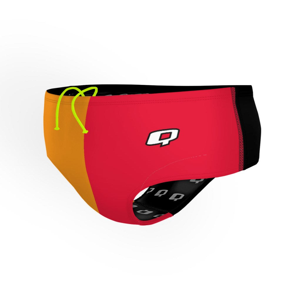 Tricolor Orange and Red Classic Brief