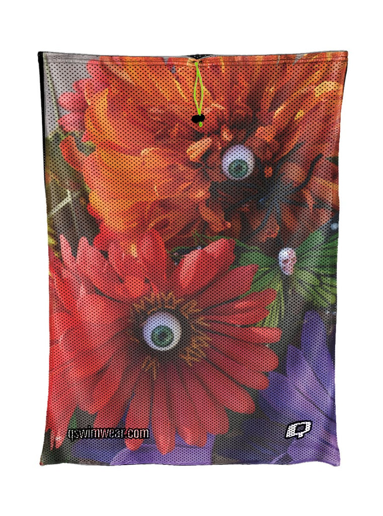 Oculary Flowers Mesh Bag