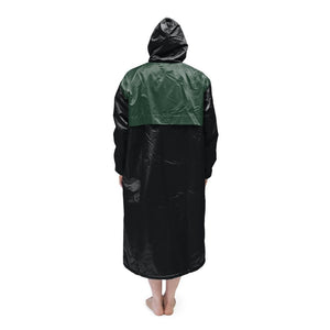 Black & Green Solid Parka