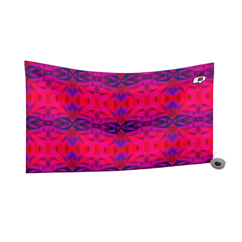 Kaleido Red Quick Dry Towel