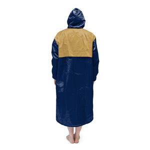 Navy & Gold Solid Parka