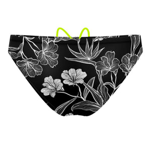 Black and White Flower Waterpolo Brief