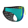 Tricolor Turquoise and Blue  Waterpolo Brief
