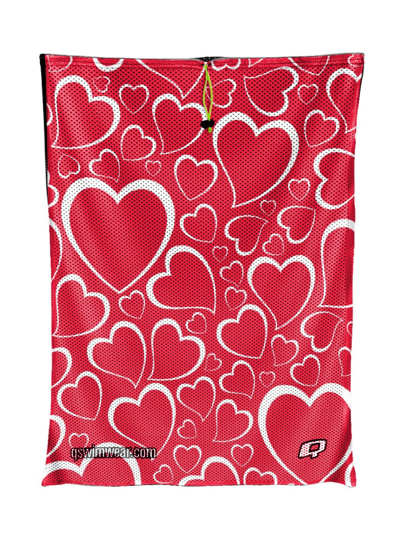 Double Hearted Mesh Bag