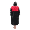Black & Red Solid Parka