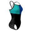Tricolor Black, Turquoise and Blue Sunback Tank