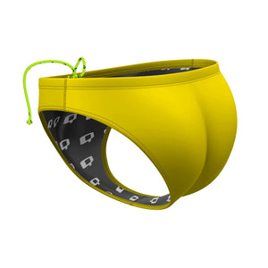 Yellow Solid Waterpolo Brief