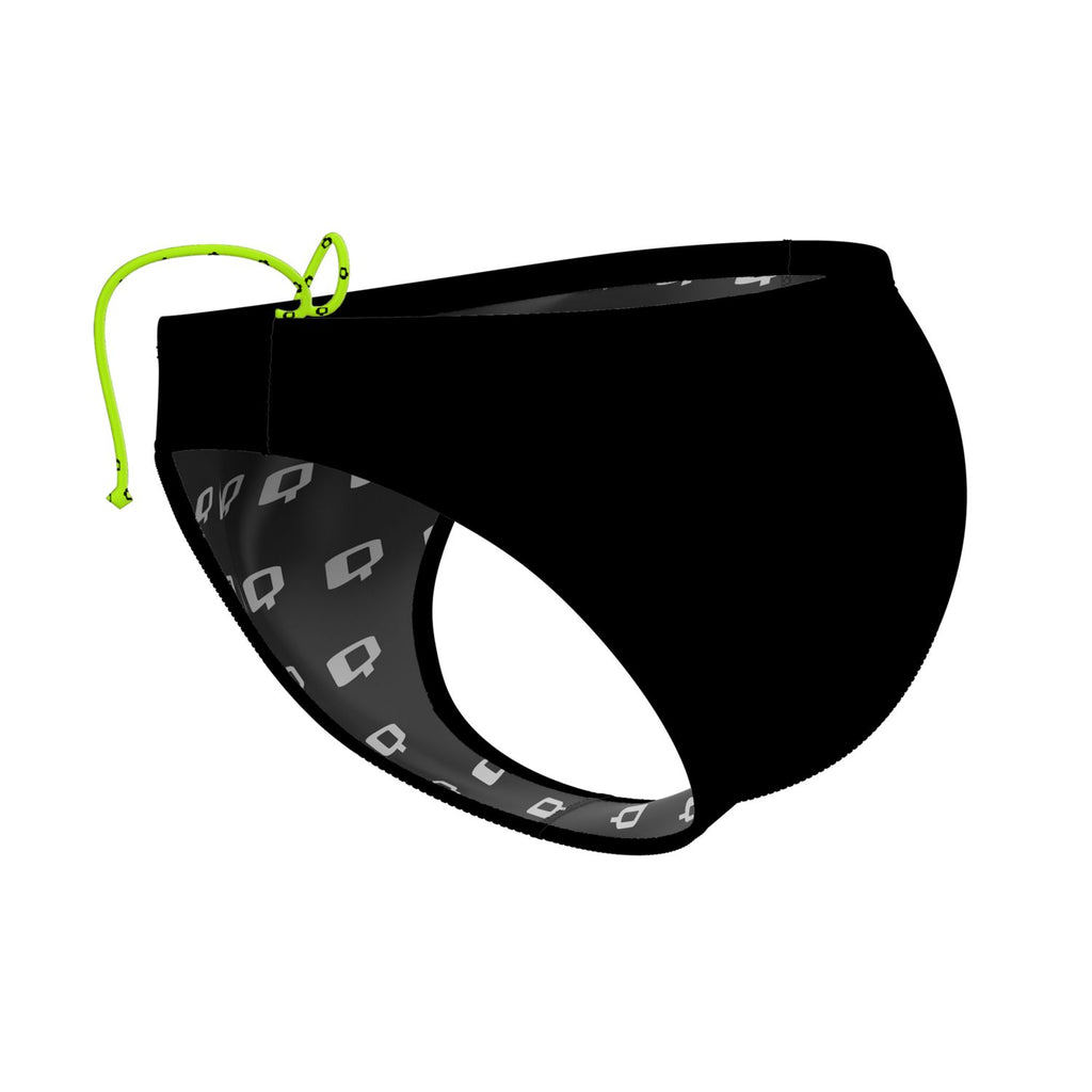 Black Waterpolo Brief Solid
