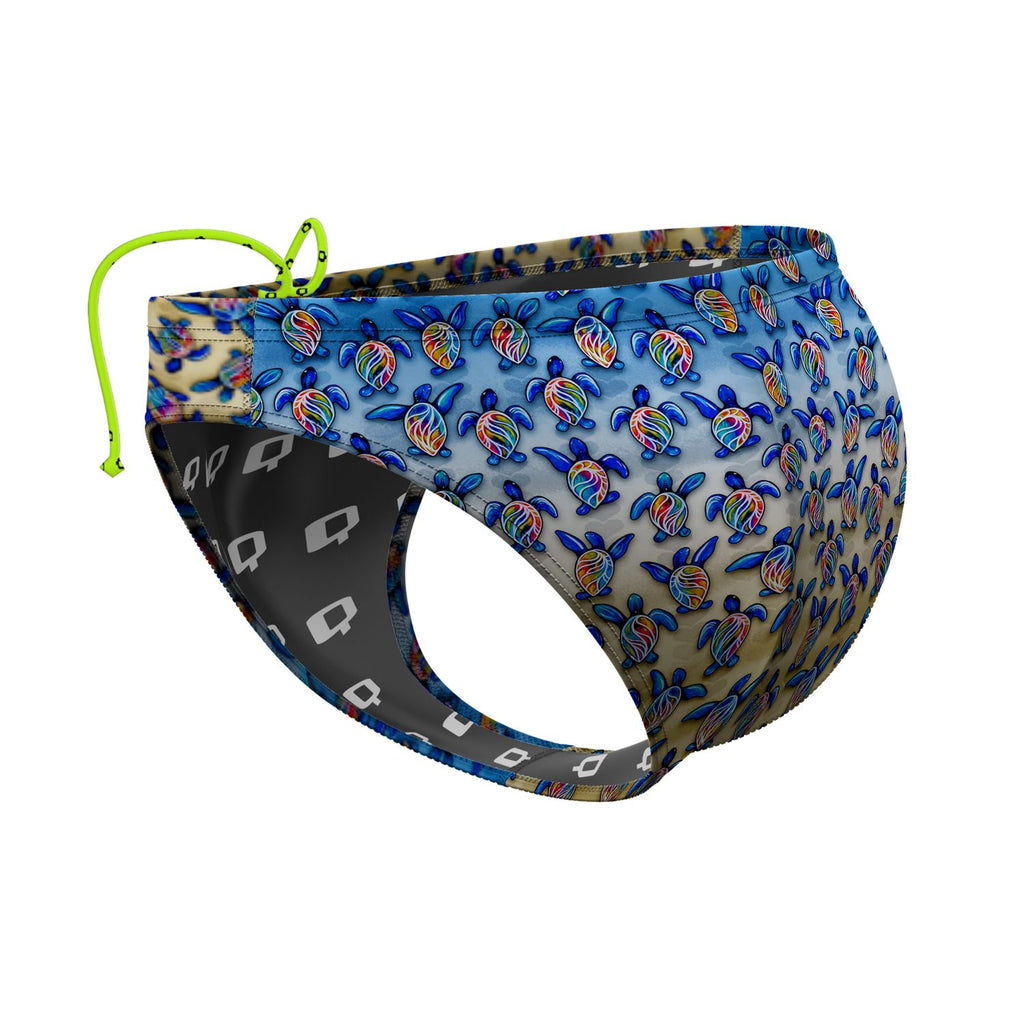 Turtle Trot Waterpolo Brief