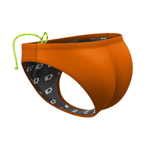 Orange Solid Waterpolo Brief