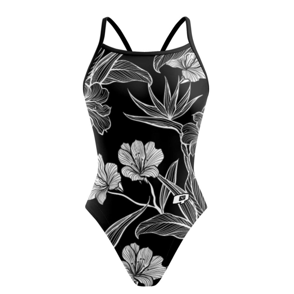 Black and White Flower Sunback Tank
