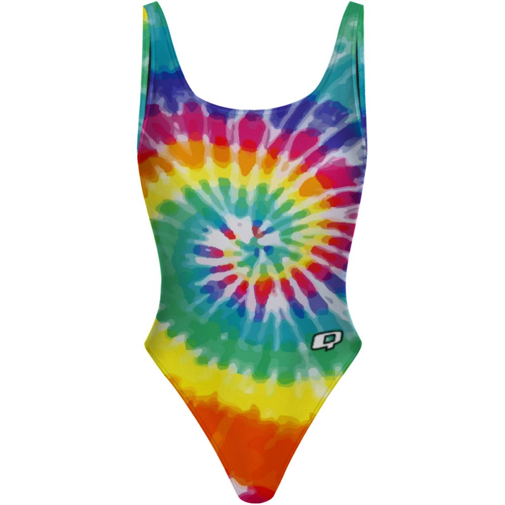 Tie Dye Colors - High Hip One Piece
