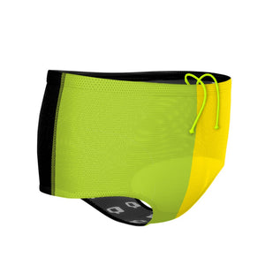 Tricolor Black, Green and Yellow Drag Suit