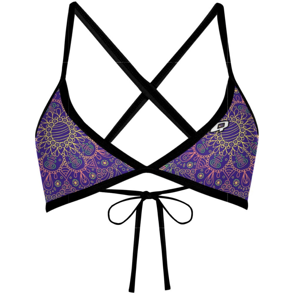 Purple Mandala - Tieback Top