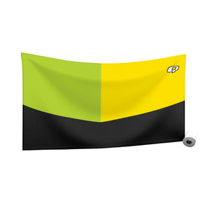 Tricolor Black, Green and Yellow Quick Dry Towel