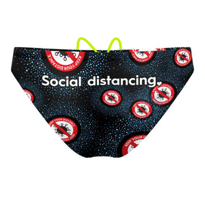Be safe social distancing Waterpolo Brief