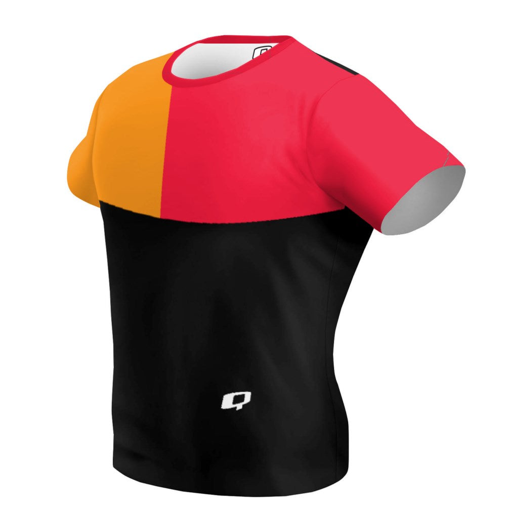 Tricolor Black, Orange and Red T-shirt