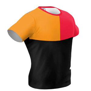 Tricolor Black, Orange and Red Performance Shirt
