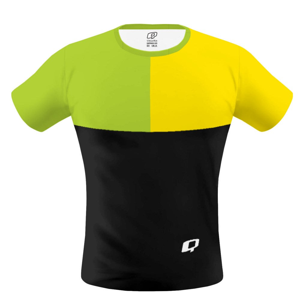 Tricolor Black, Green and Yellow T-shirt