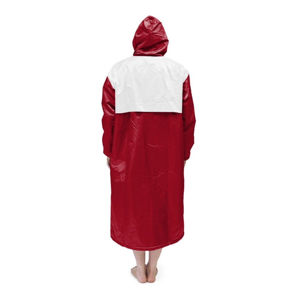 Red & White Solid Parka