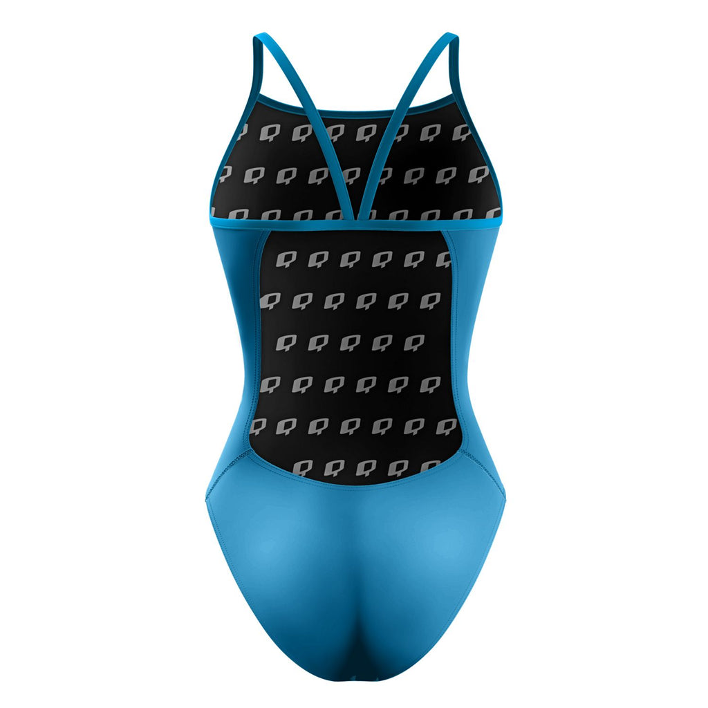 Turquoise Sunback Tank Solid