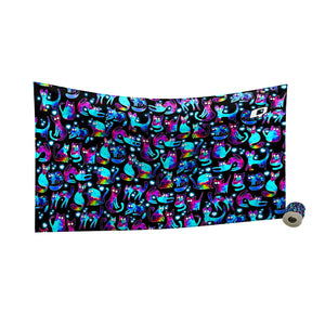 Space Kitties Quick Dry Towel