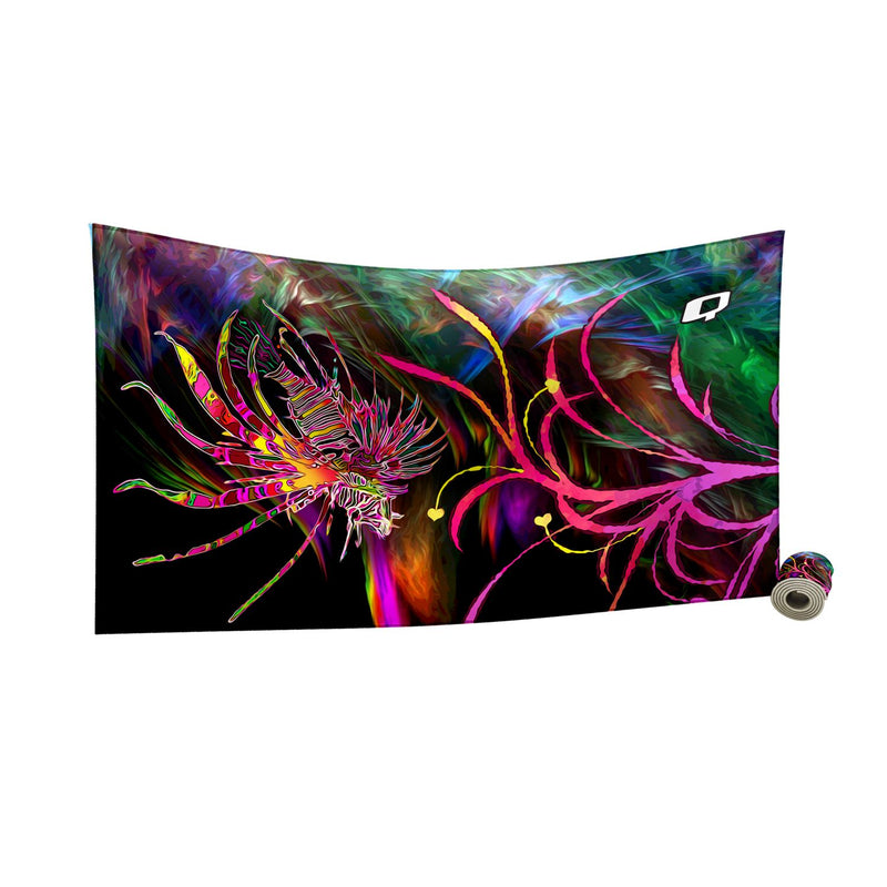 Lionfish in Technicolor Quick Dry Towel