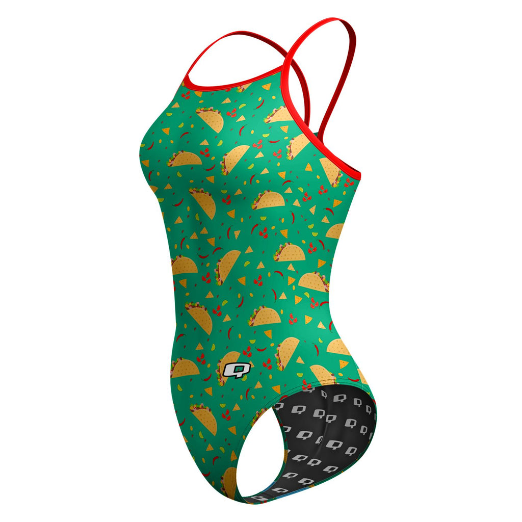 Taco 'Bout Swimming Skinny Strap