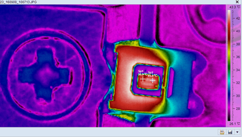 02 LED Power Chip test with Fotric Thermal Camera