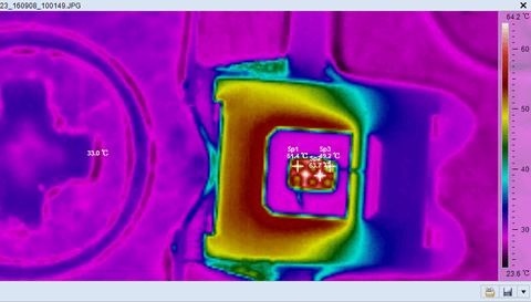 03 LED Power Chip test with Fotric Thermal Camera