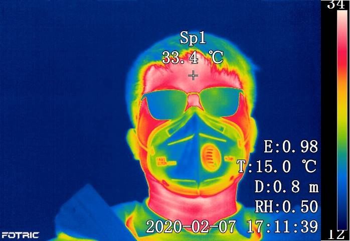 Fotric 226B high quality radiometric infrared thermal image