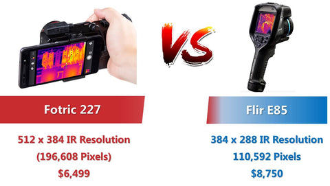 Fotric 227_vs_Flir E85_comparison_image