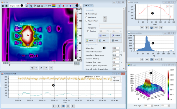Fotric AnalyzIR Software Interface 1