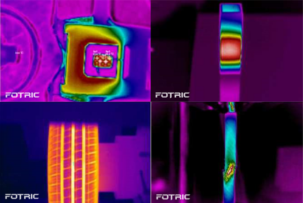 High quality infrared thermal image taken by Fotric 220s Series cameras