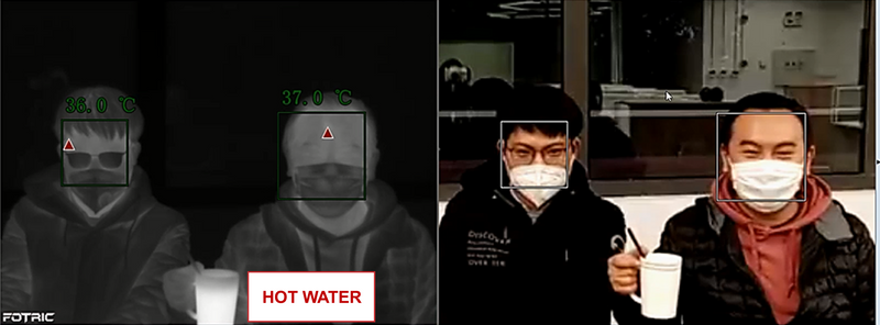 Intelligently ignore other hot object beyond face detection, fotric 226B AI