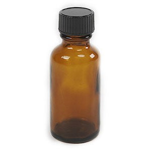 Amber Bottle 1 oz with screw top lid