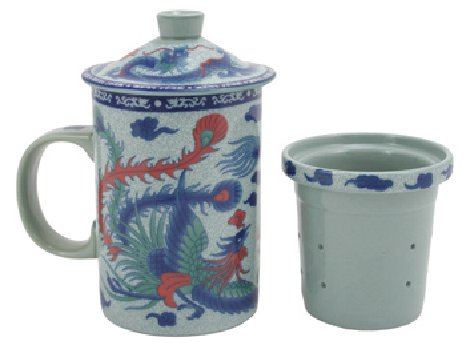 Phoenix Dragon Filtering Tea Mug OUT OF STOCK